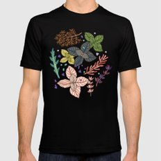 mysterious herbs MEDIUM Black Mens Fitted Tee