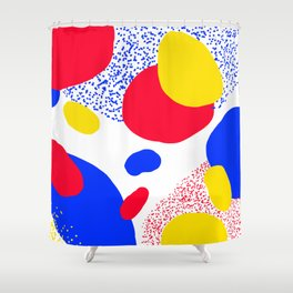 Primary Dots Shower Curtain