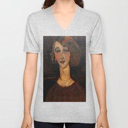 "Amedeo Modigliani ""Renée (The Blonde)"" Unisex V-Neck"