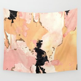 Calming Coral and Yellow Wall Tapestry