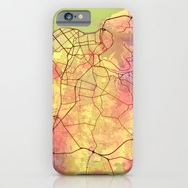 Havana Cuba Street Map Art Yellow World iPhone Case