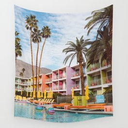Palm Springs Pool Day VII Wall Tapestry