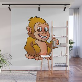 baby gorilla cartoon Wall Mural