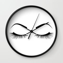 Closed Eyelashes (Both Eyes) Wall Clock