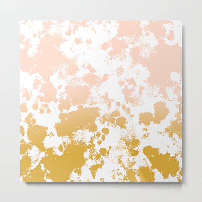Essie - abstract minimal gold painting metallics home decor minimalist hipster Metal Print