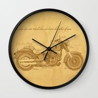 notebook Wall Clocks featuring Travel Plan by Megs stuff