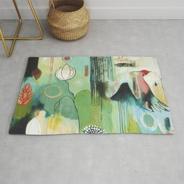 """Fly Home"" Original Painting by Flora Bowley Rug"