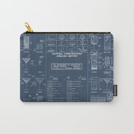 COCKTAIL CHART Carry-All Pouch
