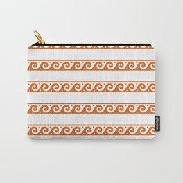Orange Greek wave pattern Carry-All Pouch