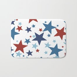 Stars - Red, White and Blue Bath Mat