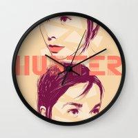 bjork Wall Clocks featuring Bjork by Isabel Arenas