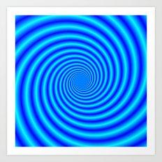 The Swirling Blues Art Print