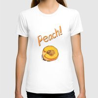 peach T-shirts featuring Peach by Ken Coleman