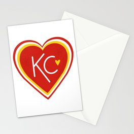 KC Love Red & Yellow Stationery Cards
