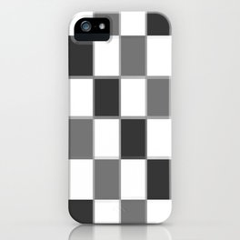 Slate & Gray Checkers / Checkerboard iPhone Case