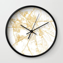 MARRAKESH MOROCCO CITY STREET MAP ART Wall Clock