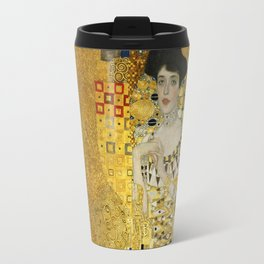 Gustav Klimt - Portrait of Adèle Bloch Bauer Travel Mug