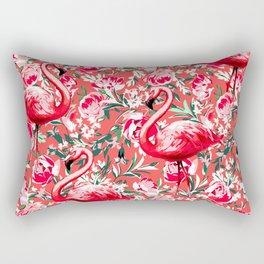 Flamingos and Flowers Rectangular Pillow