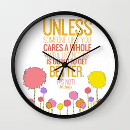 Unless Someone Like you Wall Clock