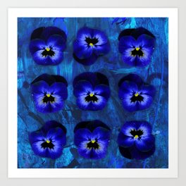 Deep Blue Velvet Art Print