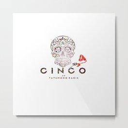 Cinco by Tatemono Paris Colored one Metal Print
