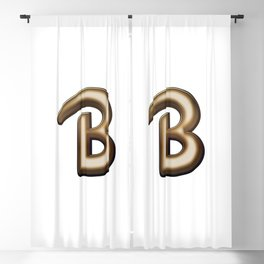 Chocolate Letter B Blackout Curtain