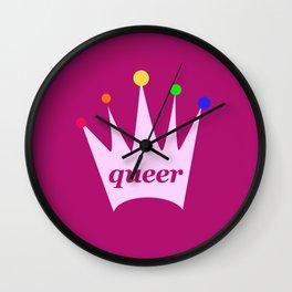 queer queen Wall Clock