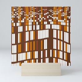 Wavy rectangles grid Mini Art Print