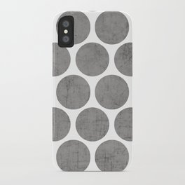 gray polka dots iPhone Case