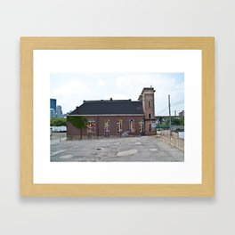 Andy Warhol flower church Framed Art Print