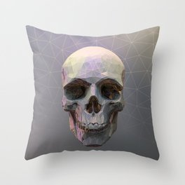 Skull Colorful Wires 1 Throw Pillow