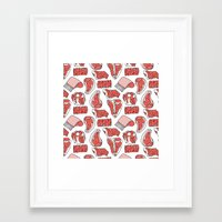 meat Framed Art Prints featuring meat by ELLA CHERREY