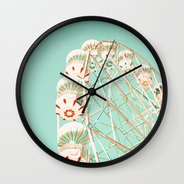 Blue and Red Ferris Wheel  Wall Clock
