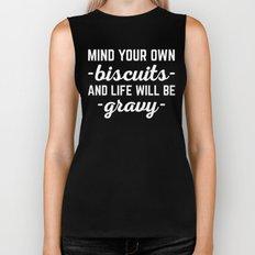Life Will Be Gravy Funny Quote Biker Tank