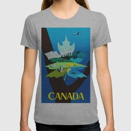 Vintage Canada Travel Poster T-shirt