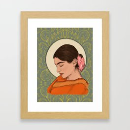 Sad Girl Framed Art Print