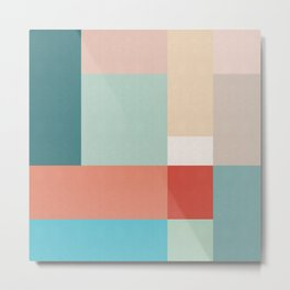 Colored composition III Metal Print