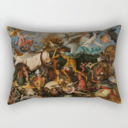 "Pieter Bruegel (also Brueghel or Breughel) the Elder ""The Fall of the Rebel Angels"" Rectangular Pillow"