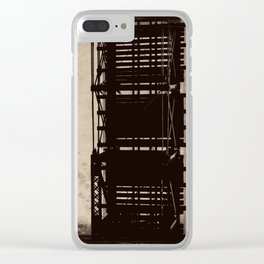 bridge to a simpler time Clear iPhone Case