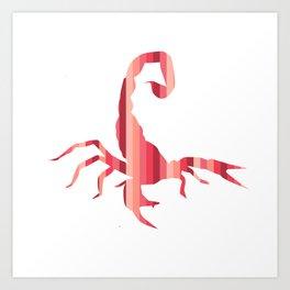 Fiery Striped Scorpion Art Print
