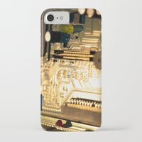 technology iPhone & iPod Cases featuring Sunset Technology by Encore Designs