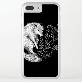 Botanical Wolf Clear iPhone Case