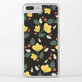 Marguerite Floral Print Clear iPhone Case