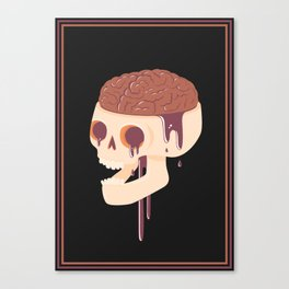 Yummy Skull Canvas Print