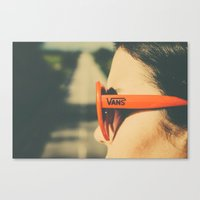 vans Canvas Prints featuring Vans by ikhals
