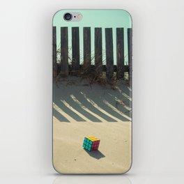Rubik shading in the beach iPhone Skin
