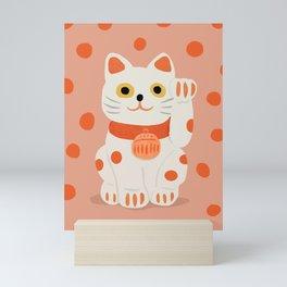 Abstraction_Lucky_Charm_Cat Mini Art Print