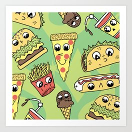 Snack Attack! Art Print