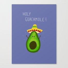 Holy Guacamole, avocado with sombrero Canvas Print
