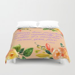 Steel Magnolias Truvy Time Marches Across Your Face Quote Duvet Cover